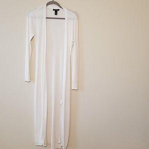 WHBM White long cardigan